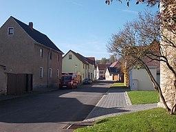 Dorfstrasse in Eberstedt (Weimarer Land sitrict, Thuringia)
