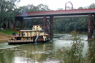 Echuca - The Echuca-Moama Road Rail Bridge.