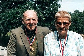 Tony Halik - Tony Halik with his wife Elżbieta Dzikowska