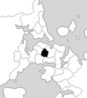 Eden (New Zealand electorate) - Eden electorate boundaries between 1993 and 1996