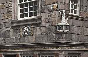 John Knox House - Details of the façade