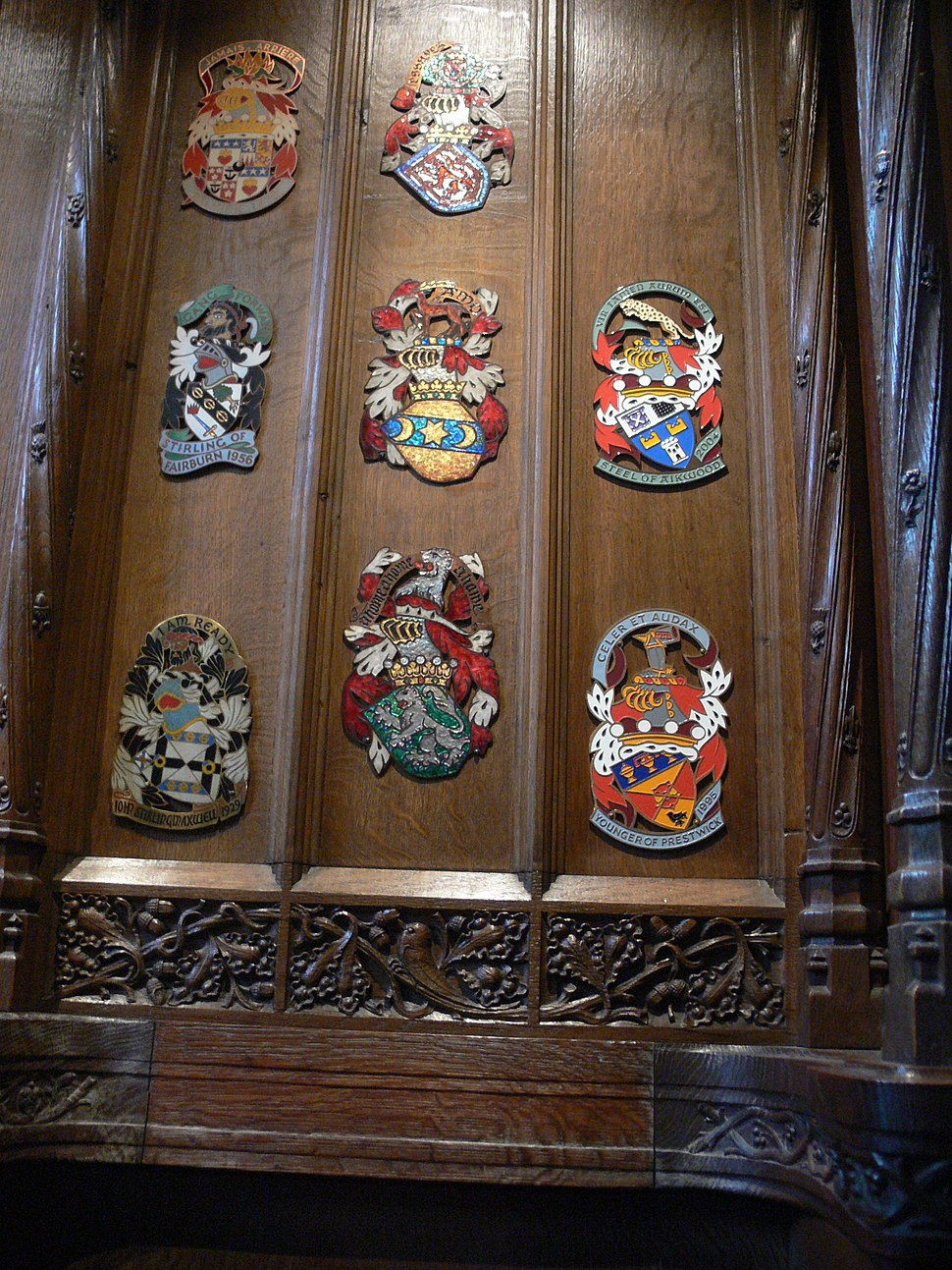 Edinburgh - St Giles Catherdal - Stall plates of Knights of the Thistle 13