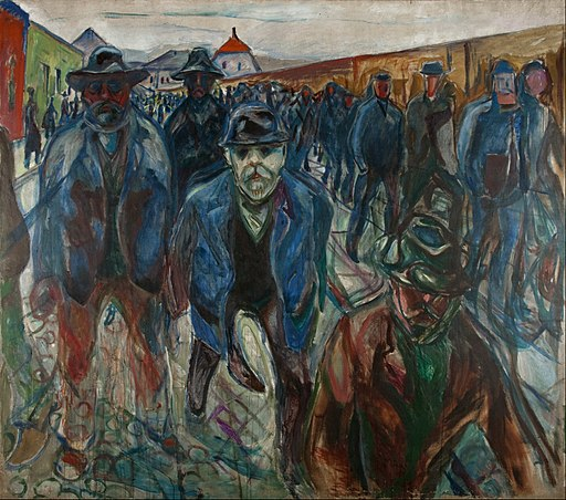 Edvard Munch - Workers on their Way Home - Google Art Project