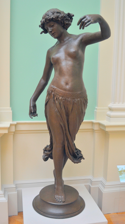 Edward Onslow Ford (1852-1901) - Dance (1891), front, Lady Lever Art Gallery, Port Sunlight, Cheshire, June 2013 (10770200085).png
