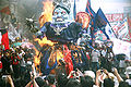 Effigy of PGMA being burned by protesters during the SONA 2007.jpg
