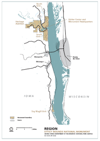 map of Effigy Mounds National Monument, Iowa, USA