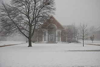Episcopal High School (Alexandria, Virginia) - Callaway Chapel in a snow storm.