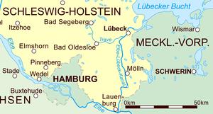 Trave - Image: Elbe–Lübeck Canal