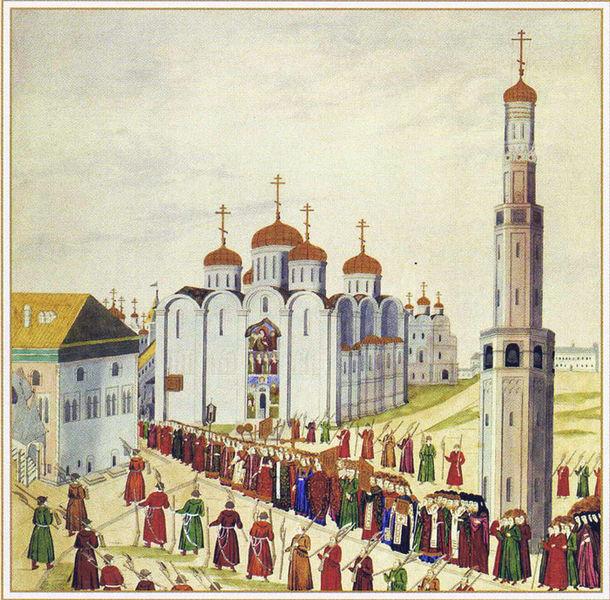 Коронация Михаила Романова в 1613.