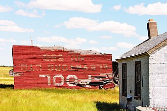 Canuck, Saskatchewan - The remains of the last elevator in Canuck.