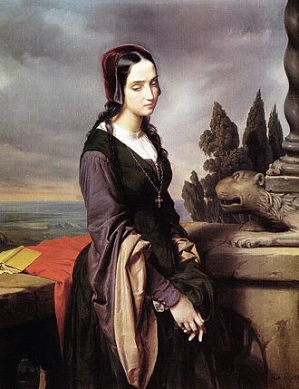Pia de' Tolomei - Pia de' Tolomei (Eliseo Sala, 1846), Pinacoteca Tosio Martinengo, Brescia