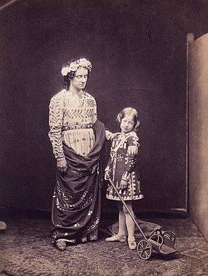 Ellen Terry - Charles Kean (left) and Ellen Terry in The Winter's Tale, 1856