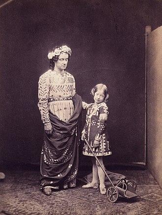 Ellen Terry - Charles Kean (left) and Ellen Terry in The Winter's Tale, 1856