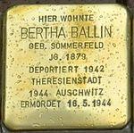 Ellrich-Stolperstein-Bertha-Ballin-CTH.JPG