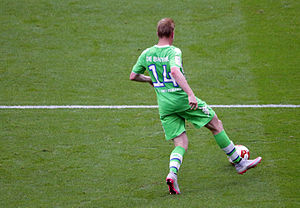 Kevin De Bruyne - De Bruyne playing for Wolfsburg against Arsenal in July 2015