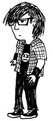 Karikatura typického ema