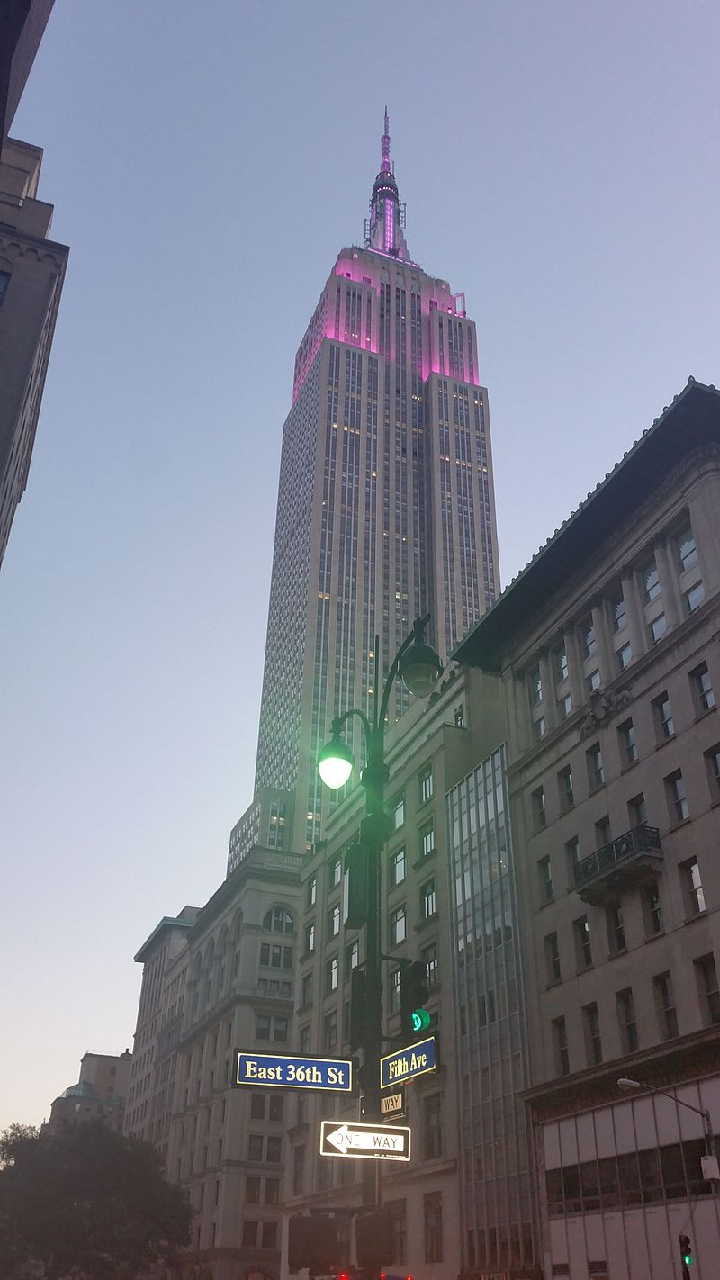 Empire State Building lighted in Purple for the National Purple Heart Day.jpg
