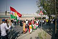 En route to the pro-Kurdistan referendum and pro-Kurdistan independence rally at Franso Hariri Stadiu, Erbil, Kurdistan Region of Iraq 03.jpg