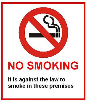 English No Smoking sign