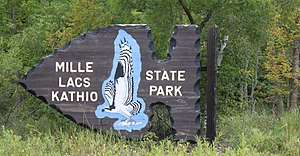 Mille Lacs Kathio State Park - Image: Entrance Mille Lacs Kathio State Park