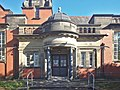 Entrance of the Carnegie Library, Crosby.jpg