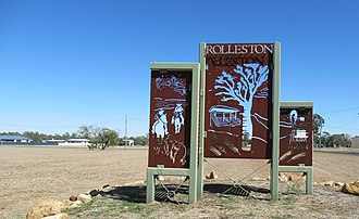 Rolleston, Queensland - Image: Entrance sign, Rolleston, Queensland