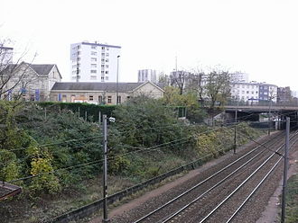 Épinay - Villetaneuse Station - The Grande Ceinture line at Épinay — Villetaneuse
