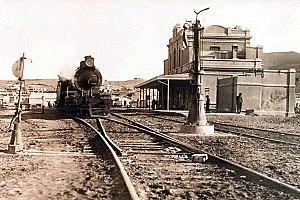 Comodoro Rivadavia Railway - Cdoro. Rivadavia station, c. 1940.
