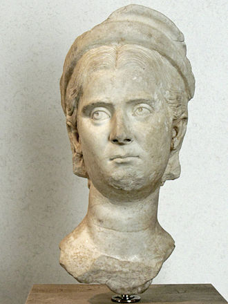 Herennia (gens) - Bust of the empress Herennia Etruscilla, from the National Museum at the Palace of Massimo, Rome.
