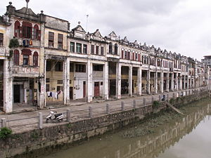Tong lau - Early 20th century Tong Laus on Dixi Road in Chikan, Kaiping