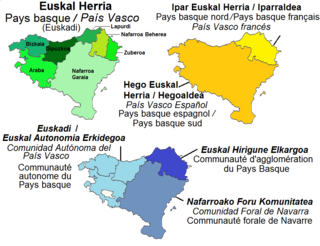 Basque Country Topics referred to by the same term