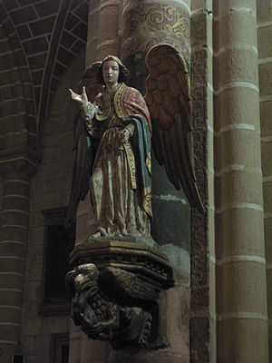 Archangel (early 16th century) in Évora Cathed...