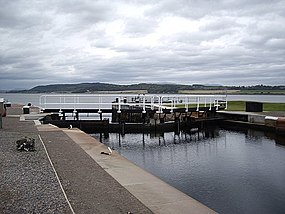 Exit from the Caledonian Canal sea lock - geograph.org.uk - 1543853.jpg