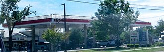 Exxon - A Exxon gas station in Keller, Texas with a 7-Eleven convenience store that opened in 2001.