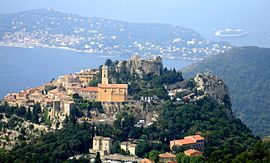 Eze viewed from Grand Corniche.JPG