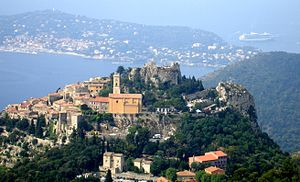 Èze - Image: Eze viewed from Grand Corniche
