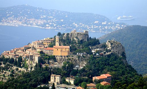 Eze viewed from Grand Corniche