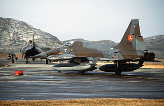 Bodø Main Air Station - A Dutch F-5 Freedom Fighter at Bodø in 1982