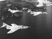 F9F Cougars of VA-192 and VFP-61 over Formosa 1957