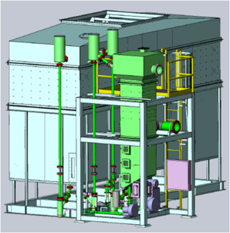 Fluidized bed concentrator - A 3-D design of the fluidized bed concentrator in Solidworks.