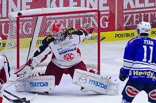 Fabian Weinhandl Austrian league ice hockey player and ice hockey goalkeeper
