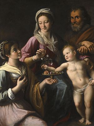 Fabrizio Santafede - The Holy Family with Saint Dorothea