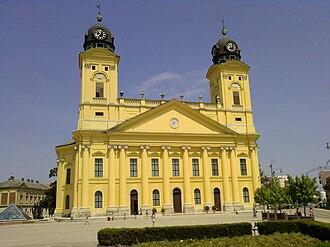 Debrecen District - Image: Facade of Great Protestant Church of Debrecen