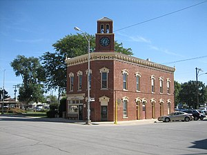 National Register of Historic Places listings in Livingston County, Illinois - Image: Fairbury City Hall 1