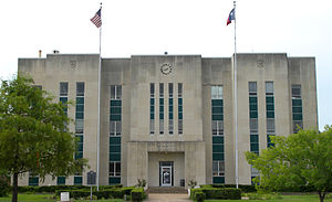 Fannin County, Texas - Image: Fannin courthouse 2010