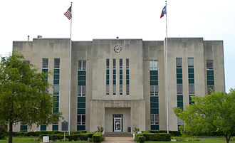 Fannin County Courthouse (Texas) - Fannin County Courthouse in 2010