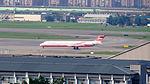 Far Eastern Air Transport MD-82 B-28021 Arrival to Taipei Songshan Airport 20160109b.jpg