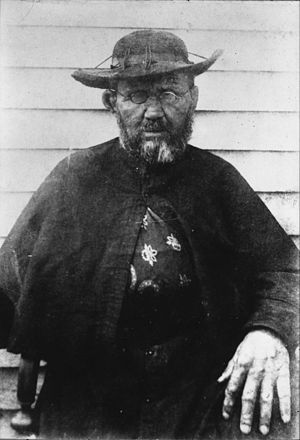 Father Damien - A photograph of Father Damien taken shortly before his death