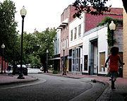 Fayetteville downtown side street