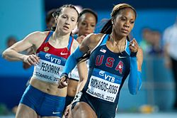 Fedoriva ja Sanya Richards-Ross